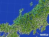 北陸地方のアメダス実況(気温)(2021年01月16日)