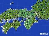 近畿地方のアメダス実況(気温)(2021年01月16日)