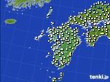 九州地方のアメダス実況(気温)(2021年01月16日)