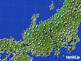 北陸地方のアメダス実況(風向・風速)(2021年01月16日)