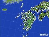 九州地方のアメダス実況(風向・風速)(2021年01月16日)