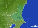 茨城県のアメダス実況(降水量)(2021年01月17日)