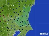 茨城県のアメダス実況(日照時間)(2021年01月17日)