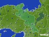 京都府のアメダス実況(気温)(2021年01月17日)
