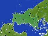 山口県のアメダス実況(気温)(2021年01月17日)