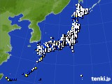 アメダス実況(風向・風速)(2021年01月17日)