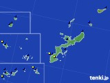 沖縄県のアメダス実況(風向・風速)(2021年01月17日)