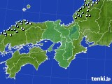 近畿地方のアメダス実況(降水量)(2021年01月18日)