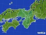 2021年01月18日の近畿地方のアメダス(積雪深)
