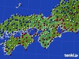 近畿地方のアメダス実況(日照時間)(2021年01月18日)