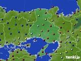 兵庫県のアメダス実況(日照時間)(2021年01月18日)