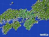 近畿地方のアメダス実況(風向・風速)(2021年01月18日)