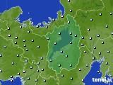 2021年01月24日の滋賀県のアメダス(降水量)