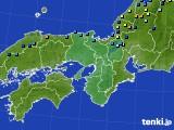 2021年01月30日の近畿地方のアメダス(積雪深)