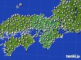 2021年01月31日の近畿地方のアメダス(風向・風速)