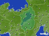 滋賀県のアメダス実況(風向・風速)(2021年02月01日)