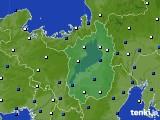 2021年02月02日の滋賀県のアメダス(風向・風速)