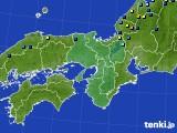 2021年02月03日の近畿地方のアメダス(積雪深)