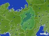 滋賀県のアメダス実況(気温)(2021年02月03日)