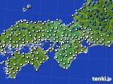 2021年02月04日の近畿地方のアメダス(気温)
