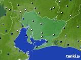 2021年02月04日の愛知県のアメダス(風向・風速)