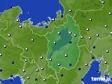 2021年02月04日の滋賀県のアメダス(風向・風速)