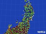 2021年02月05日の東北地方のアメダス(日照時間)