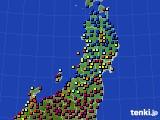 2021年02月06日の東北地方のアメダス(日照時間)