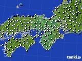 2021年02月06日の近畿地方のアメダス(風向・風速)
