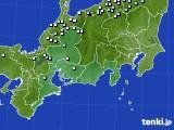 東海地方のアメダス実況(降水量)(2021年02月07日)