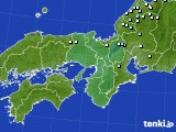 近畿地方のアメダス実況(降水量)(2021年02月07日)