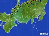 東海地方のアメダス実況(積雪深)(2021年02月07日)