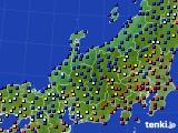 北陸地方のアメダス実況(日照時間)(2021年02月07日)