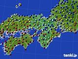 近畿地方のアメダス実況(日照時間)(2021年02月07日)