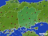 岡山県のアメダス実況(日照時間)(2021年02月07日)