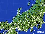 北陸地方のアメダス実況(気温)(2021年02月07日)