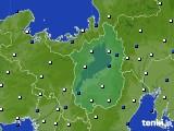 2021年02月07日の滋賀県のアメダス(風向・風速)