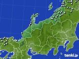 北陸地方のアメダス実況(降水量)(2021年02月08日)