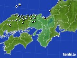 近畿地方のアメダス実況(降水量)(2021年02月08日)