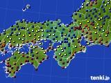 近畿地方のアメダス実況(日照時間)(2021年02月08日)