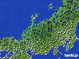 北陸地方のアメダス実況(気温)(2021年02月08日)