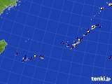 2021年02月08日の沖縄地方のアメダス(風向・風速)