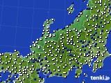北陸地方のアメダス実況(風向・風速)(2021年02月08日)
