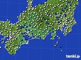 東海地方のアメダス実況(風向・風速)(2021年02月08日)