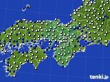 近畿地方のアメダス実況(風向・風速)(2021年02月08日)