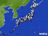 アメダス実況(風向・風速)(2021年02月08日)