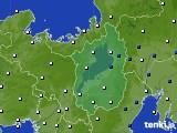 2021年02月08日の滋賀県のアメダス(風向・風速)