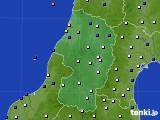 2021年02月08日の山形県のアメダス(風向・風速)