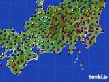 東海地方のアメダス実況(日照時間)(2021年02月09日)