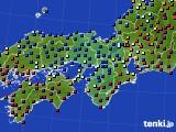 近畿地方のアメダス実況(日照時間)(2021年02月09日)